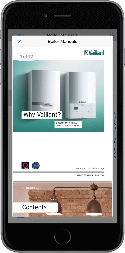 Boiler Manuals on iPhone