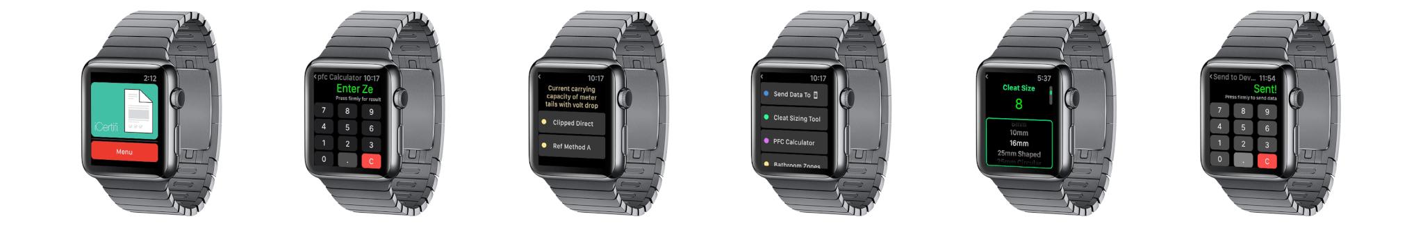 iCertifi on Apple Watch