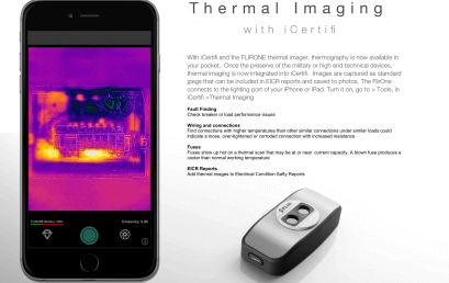 Thermal Imaging – Add thermal images to electrical certificate reports