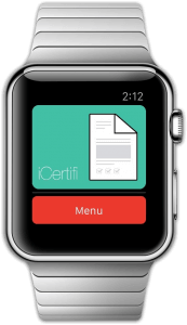 iCertifi on Apple Watch