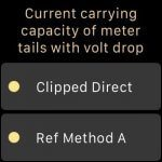 Current carrying capacity of meter tails on Apple Watch