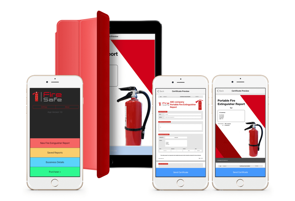 Firesafe fire extinguisher certification app on iphone and ipad