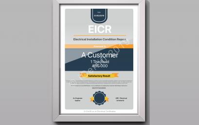 EICR Presentation Certificate | iCertifi 10.9.7