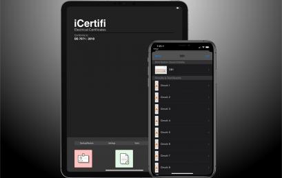 iCertifi & iOS 13 – Electrical Certificates In Dark Mode