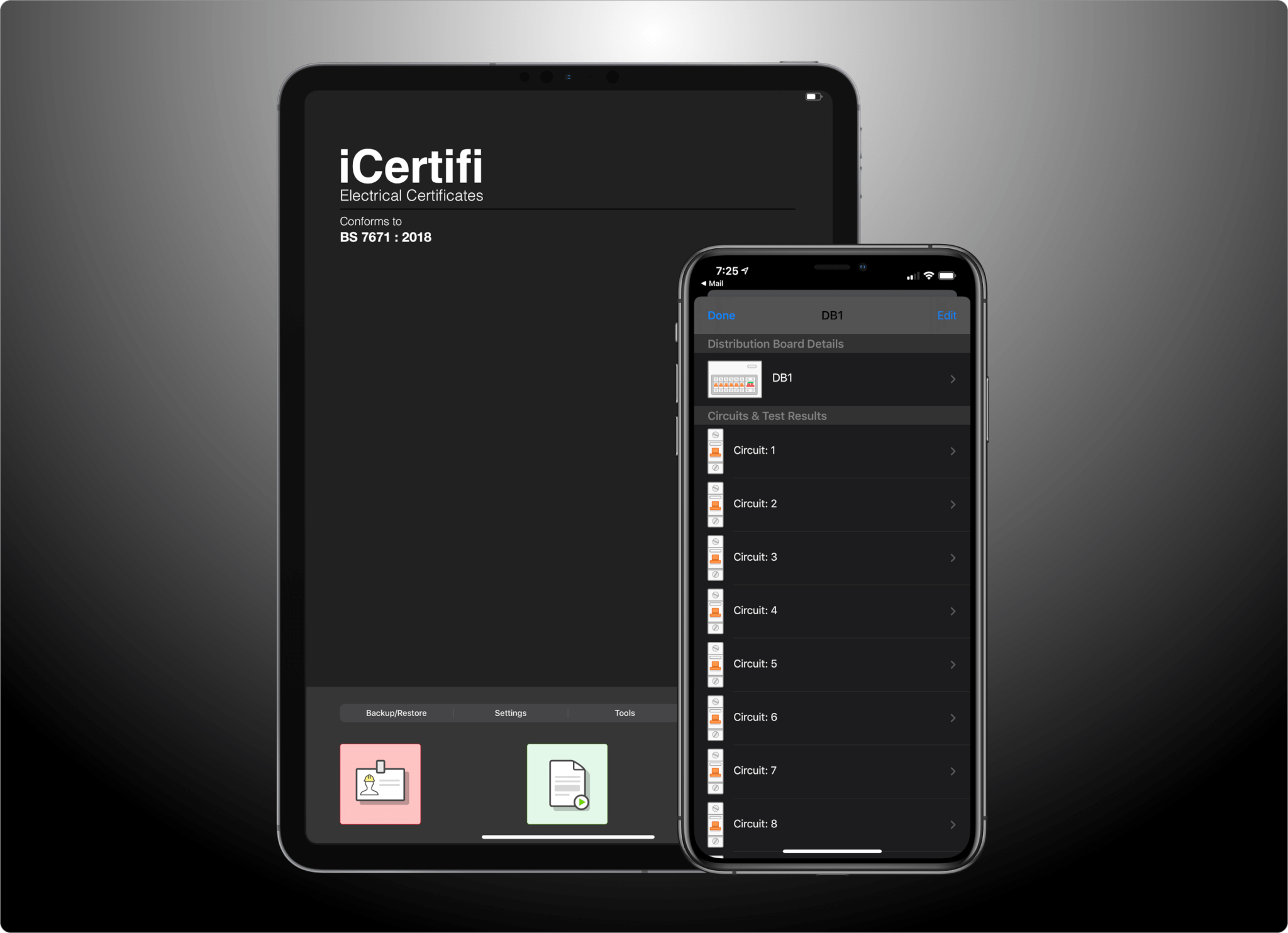 iCertifi & iOS 13 – Electrical Certificates In Dark Mode